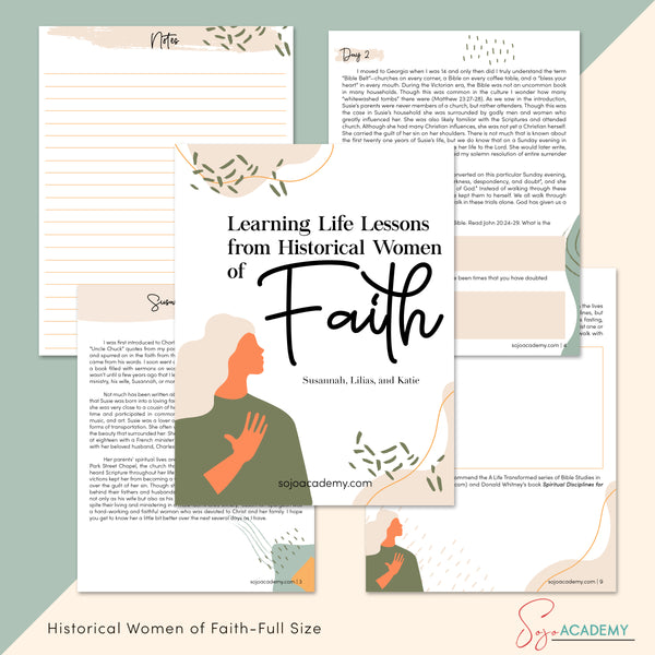 Learning Life Lessons from Historical Women of Faith: 4-Week Bible Study