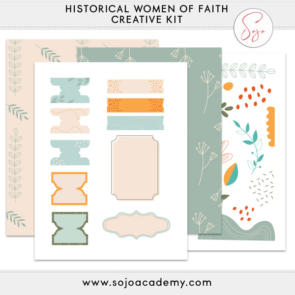 Learning Life Lessons from Historical Women of Faith Add-on Creative Kit (September 2020)