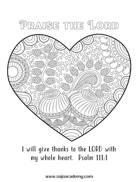 Worthy Worship Coloring Page