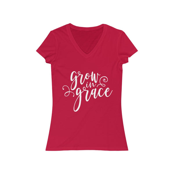 Grow in Grace Short Sleeve V-Neck Tee
