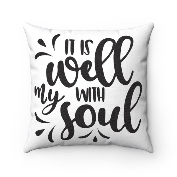 Copy of Remember God's Promises Spun Polyester Square Pillow