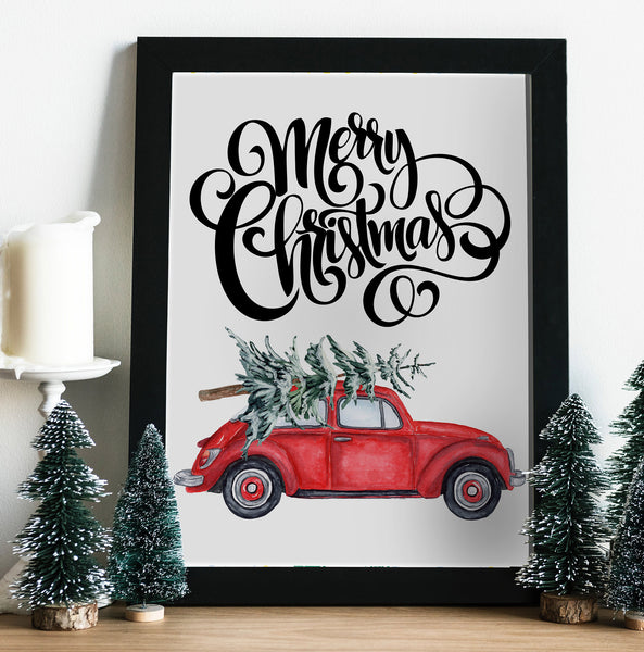 Christmas Car Printable