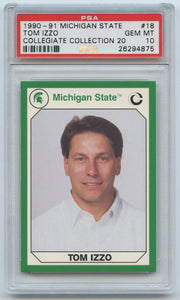 1990 Michigan State 20 Tom Izzo RC PSA 10 (Gem Mint)