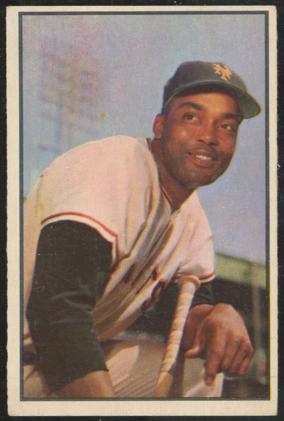 1953 Bowman Color Monte Irvin #51 NY Giants EX