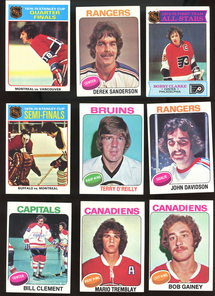 1975-76 Topps Hockey Starter Lot - 160 Different Cards - Stars, More EX/MT