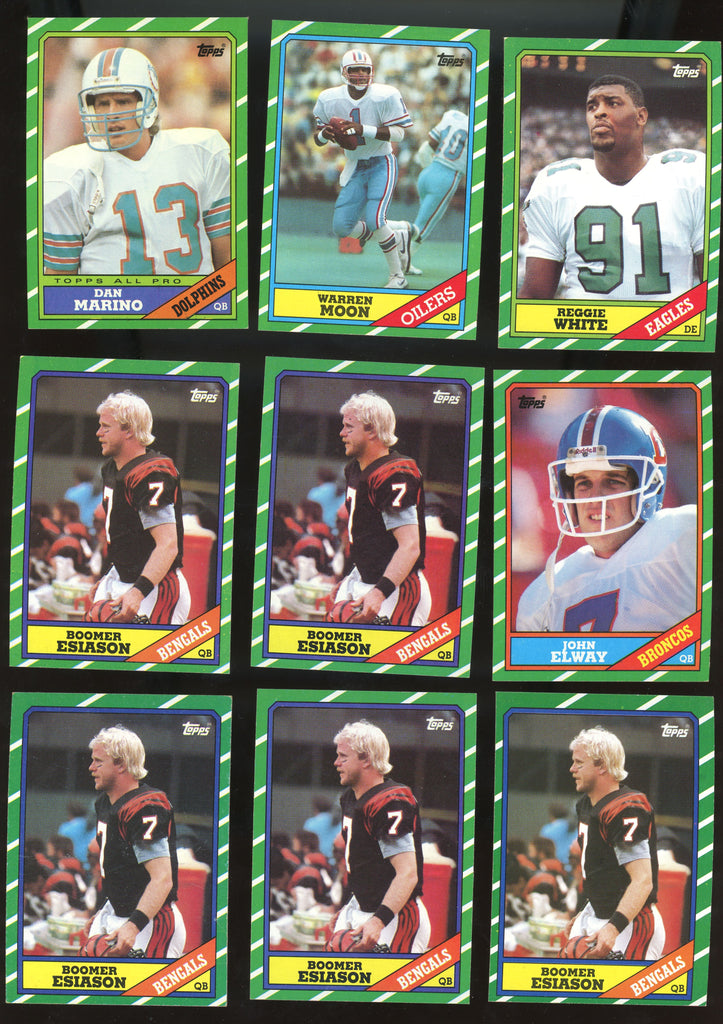 1986 Topps Football - Lot of (500+) assorted with Elway, Marino, Esiason RC NM-MT