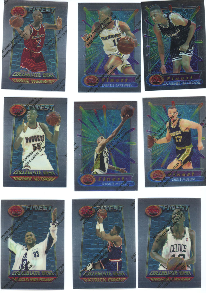 1994-95 FINEST Basketball - Lot of (233) Stars, Coating Still On Cards