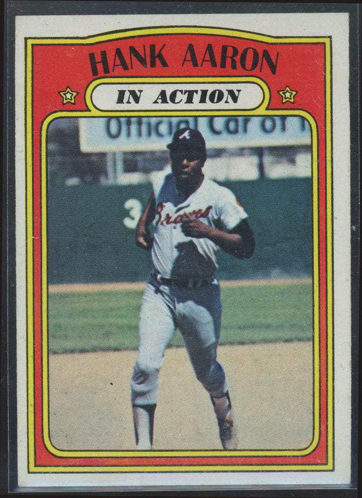 1972 Topps Hank Aaron In Action #300 EX-MT