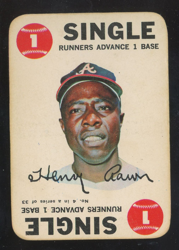 1968 Topps Game Hank Aaron #4 GD