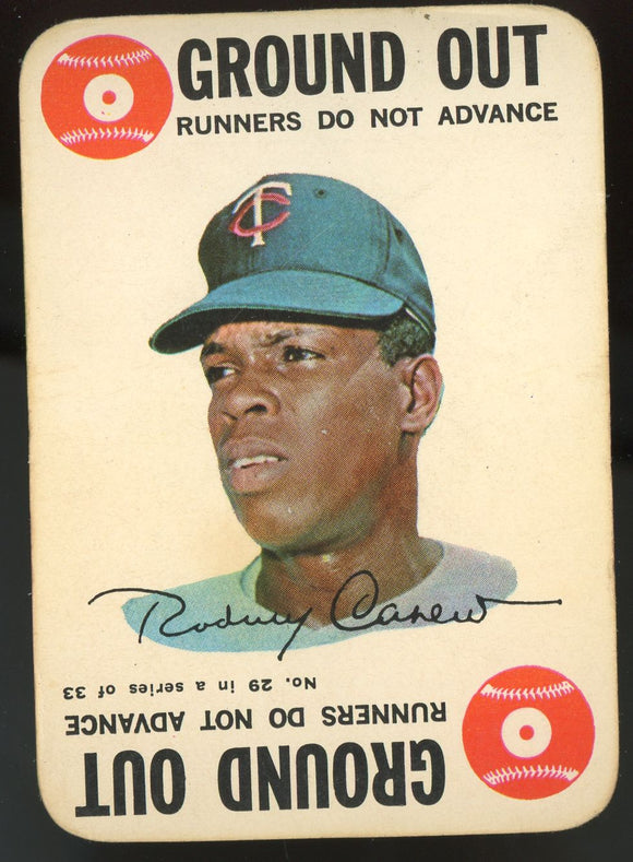 1968 Topps Game Rod Carew HOF (Twins) #29 GD