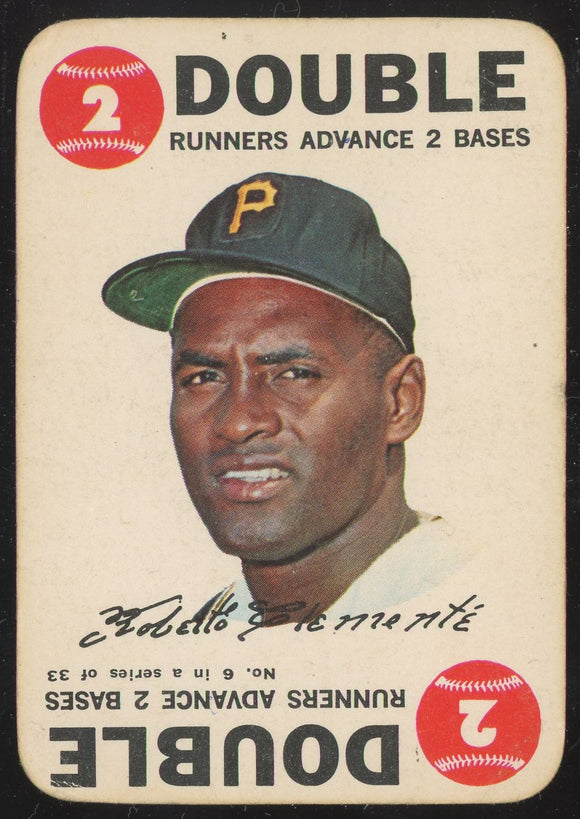 1968 Topps Game Roberto Clemente (Pirates) #6 -FR to GD