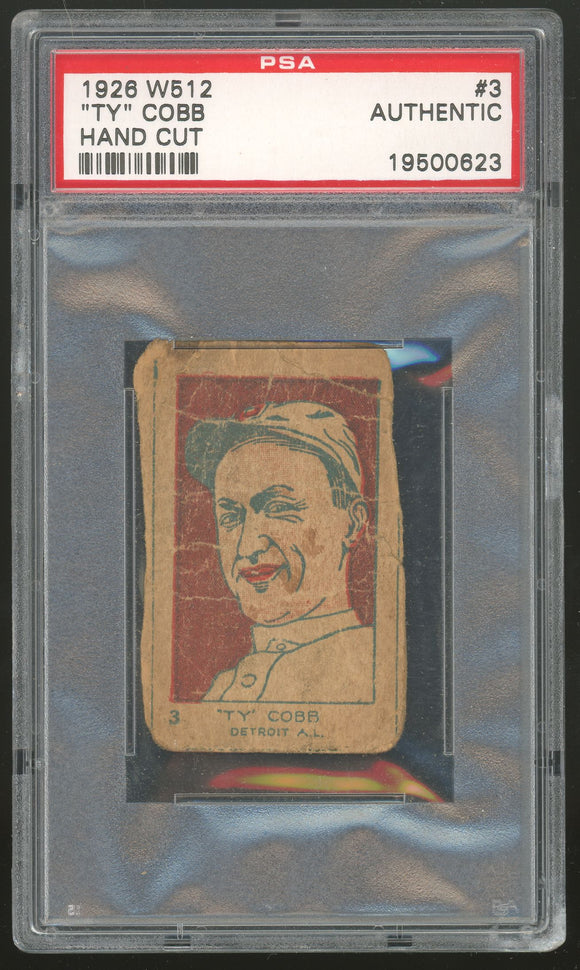 1926 W512 - Ty Cobb Strip Card - PSA Authentic