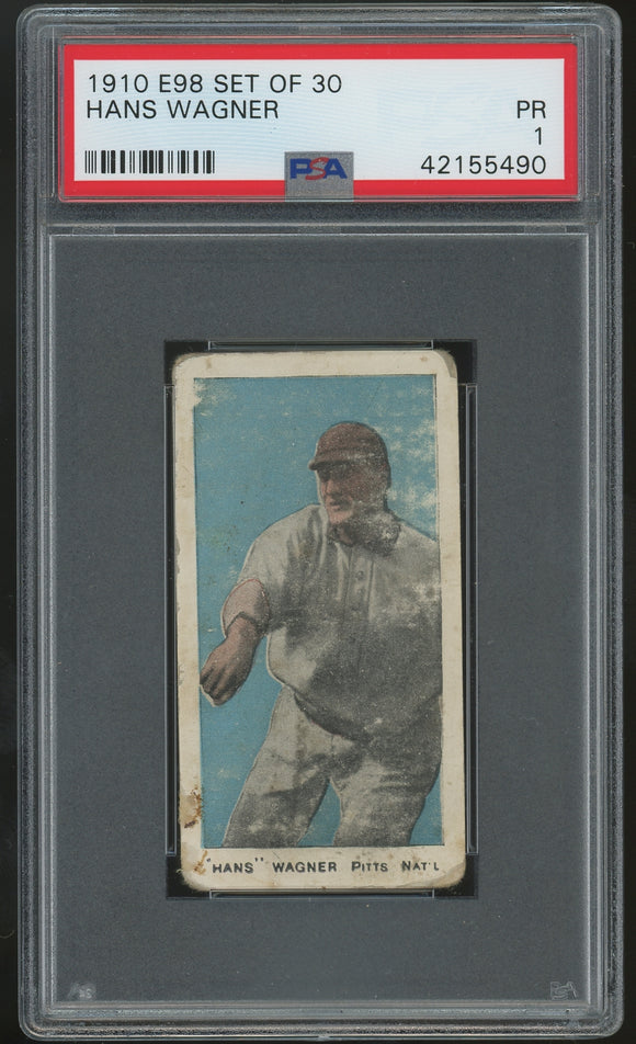 1910 E98 Set Of 30 - Honus (Hans) Wagner - PSA 1 (Poor)
