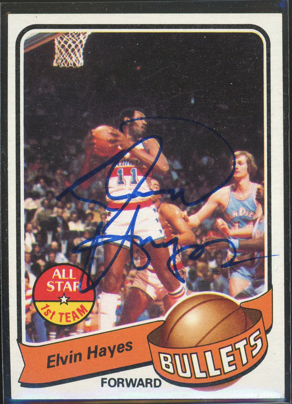 1979-80 Topps Elvin Hayes #90 Autograph