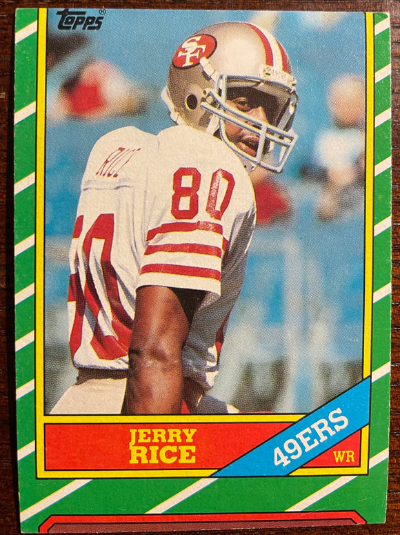 1986 Topps Jerry Rice #161 RC - Unique Miscut!