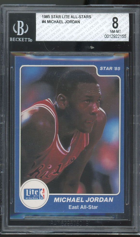 1985 Star Basketball - Lite All-Stars Set w/BGS 8 NM-MT Michael Jordan