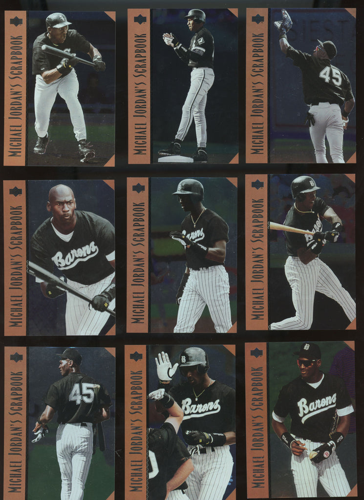 1995 Upper Deck Minors Baseball MLB Michael Jordan Scrapbook Set