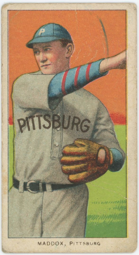 1909-1911 T206 Nick Maddox Piedmont - Fair to Good Condition