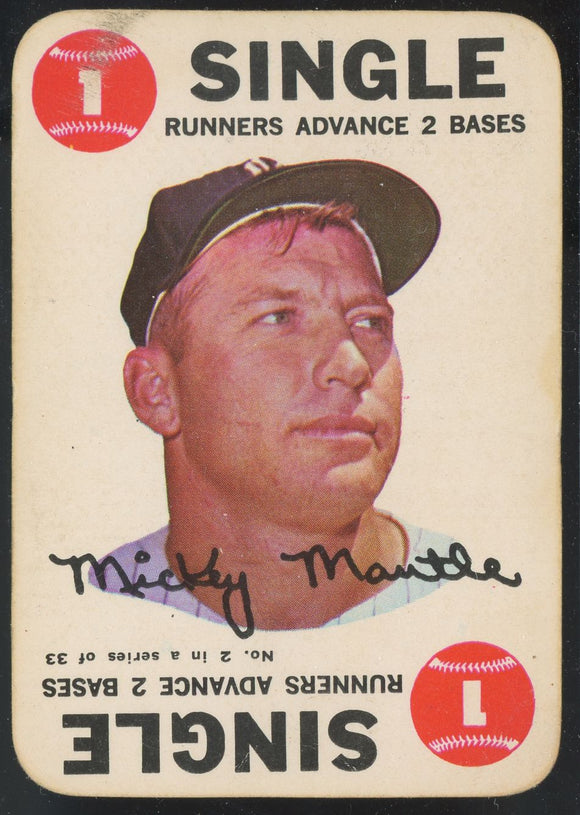 1968 Topps Game Mickey Mantle #2 GD (Pick One)