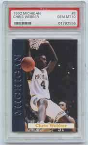 1992 Michigan Chris Webber - PSA 10 (Gem Mint)
