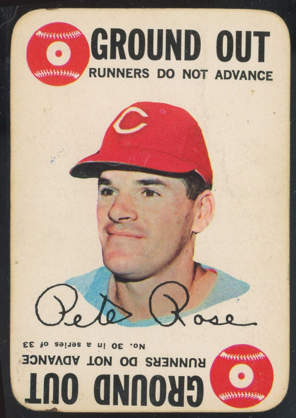 1968 Topps Game Pete Rose (REDS) #30 GD