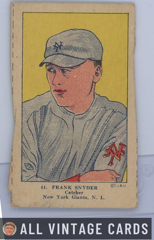 1923 W515-1 Frank Snyder #44 - Good Condition