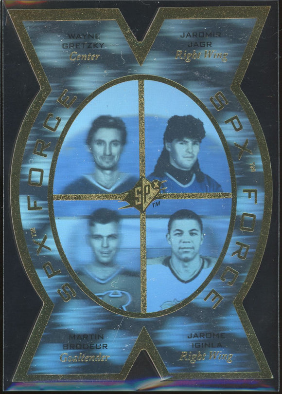 1996-97 SP SPx FORCE #SPX5 RARE -Gretzky/Brodeur/Jagr/Iginla NM-MT
