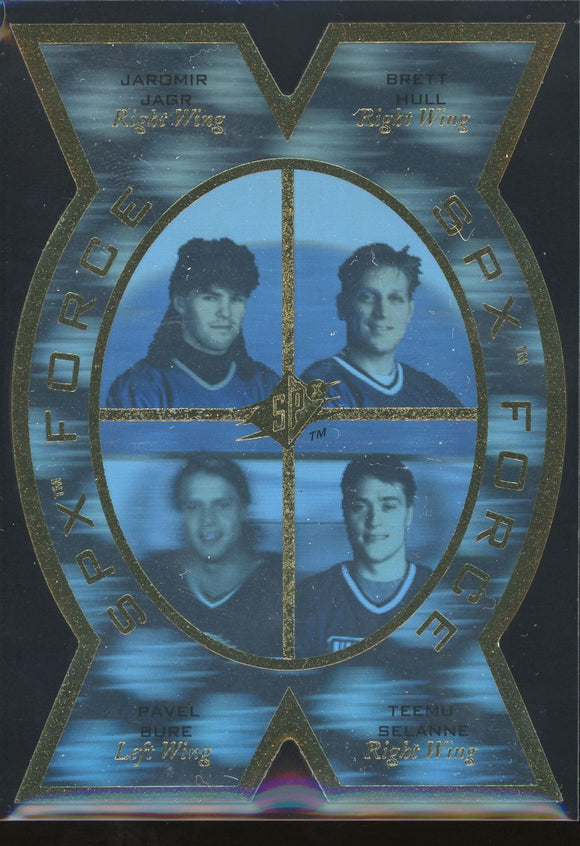 1996-97 SP SPx FORCE #SPX2 RARE - Jagr/Hull/Bure/Selanne NM-MT