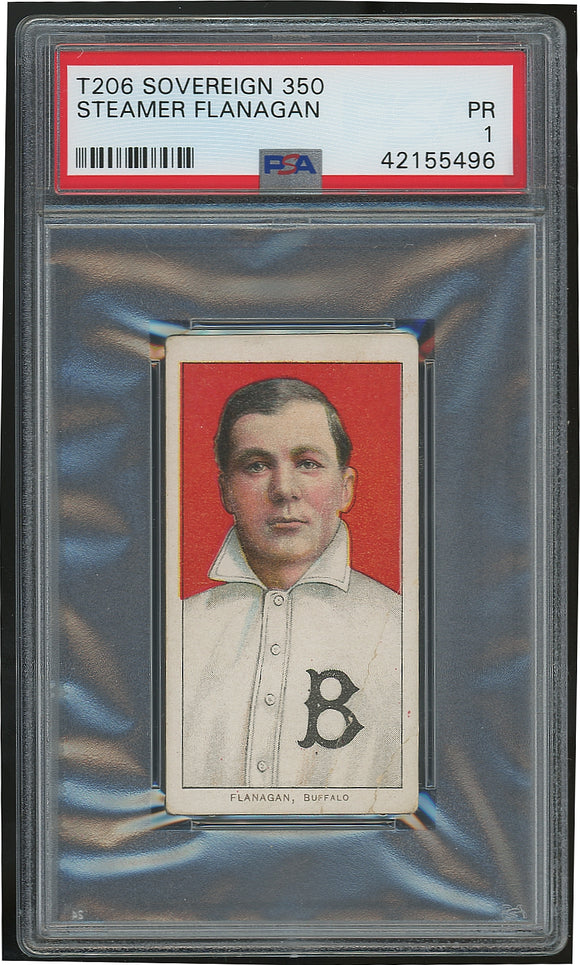 1909 T206 Steamer Flanagan - Sovereign 350 - Poor (PSA 1)