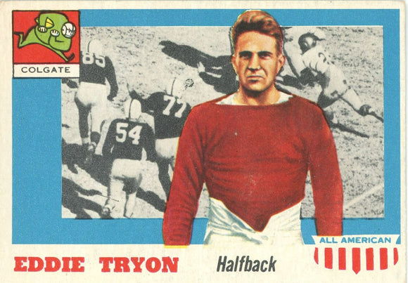 1955 Topps ALL-American Football Eddie Tyron (RC) SP #42 EX