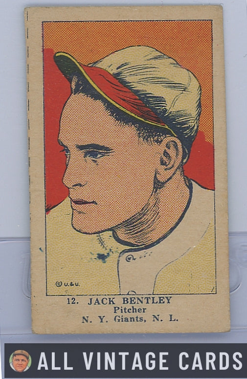 1923 W515-1 Jack Bentley #12 - Good Condition