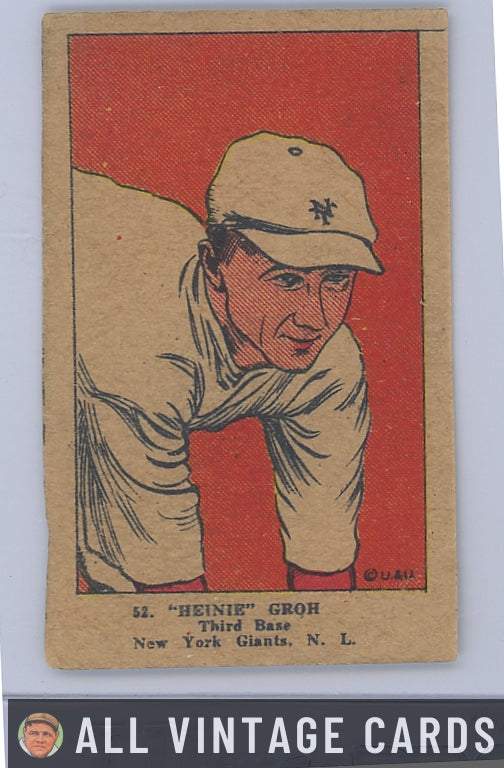 1923 W515-1 Heinie Groh #42 - Good Condition