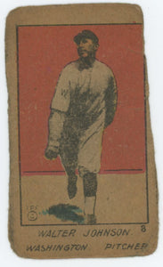 1920 W516-1-1 Walter Johnson Strip Card - Fair Condition