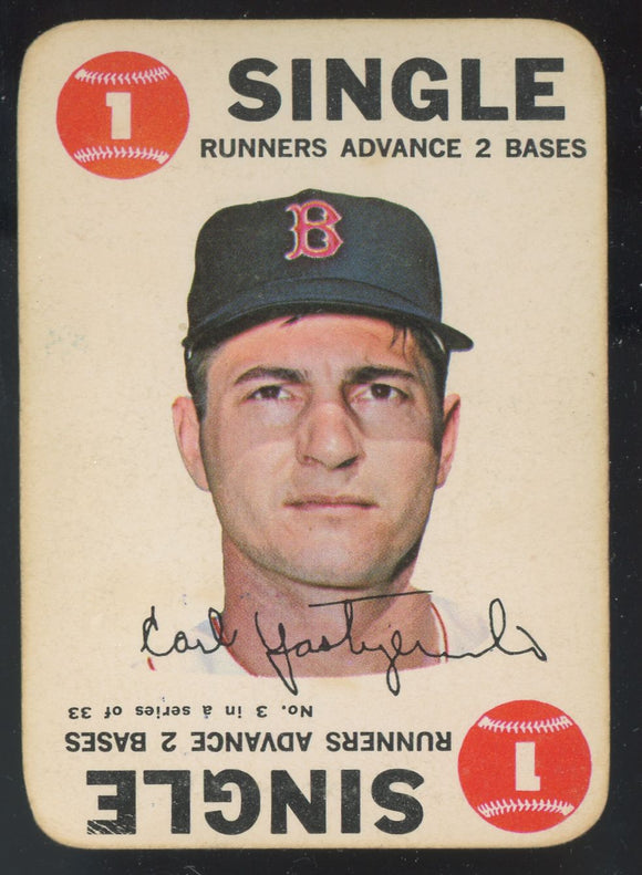 1968 Topps Game Carl Yastrzemski YAZ (Red Sox) #3 GD