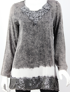 Vintage Lace and Glitz Tunic