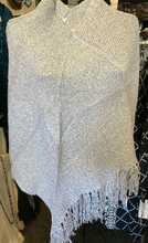 Load image into Gallery viewer, LuluB Poncho Cape With Asymmetrical Fringe from LuluB