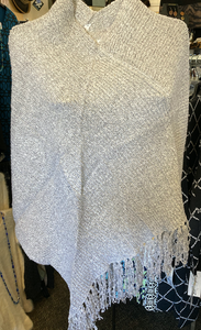 LuluB Poncho Cape With Asymmetrical Fringe from LuluB
