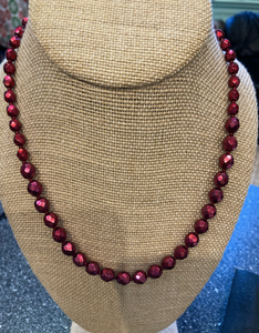 Cranberry Red Necklace
