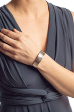 Load image into Gallery viewer, Amanda Moran Designs Handmade Hammered Sterling Silver Tapered Cuff Bracelet