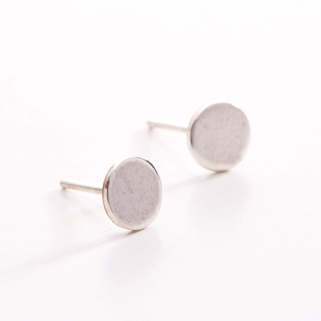 Amanda Moran Designs Handmade Simple Sterling Silver Dot Stud Earrings