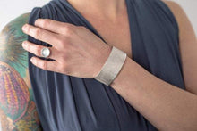 Load image into Gallery viewer, Amanda Moran Designs Handmade Chunky Silver Satellite Cuff Bracelet