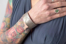 Load image into Gallery viewer, Amanda Moran Designs Oxidized Chunky Silver Satellite Cuff Bracelet