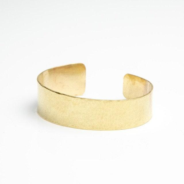 Amanda Moran Designs Handmade Tapered Hammered Brass Cuff Bracelet