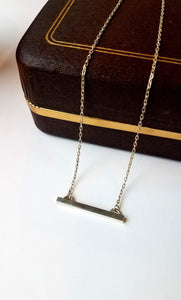 Amanda Moran Designs Handmade Sterling Silver Raise the Bar Necklace