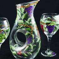 Hand Painted Glasssware