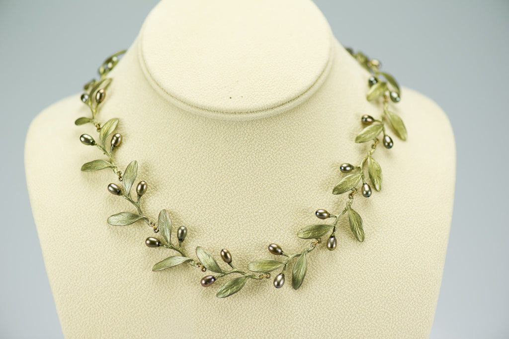 Silver Seasons Olives Necklace