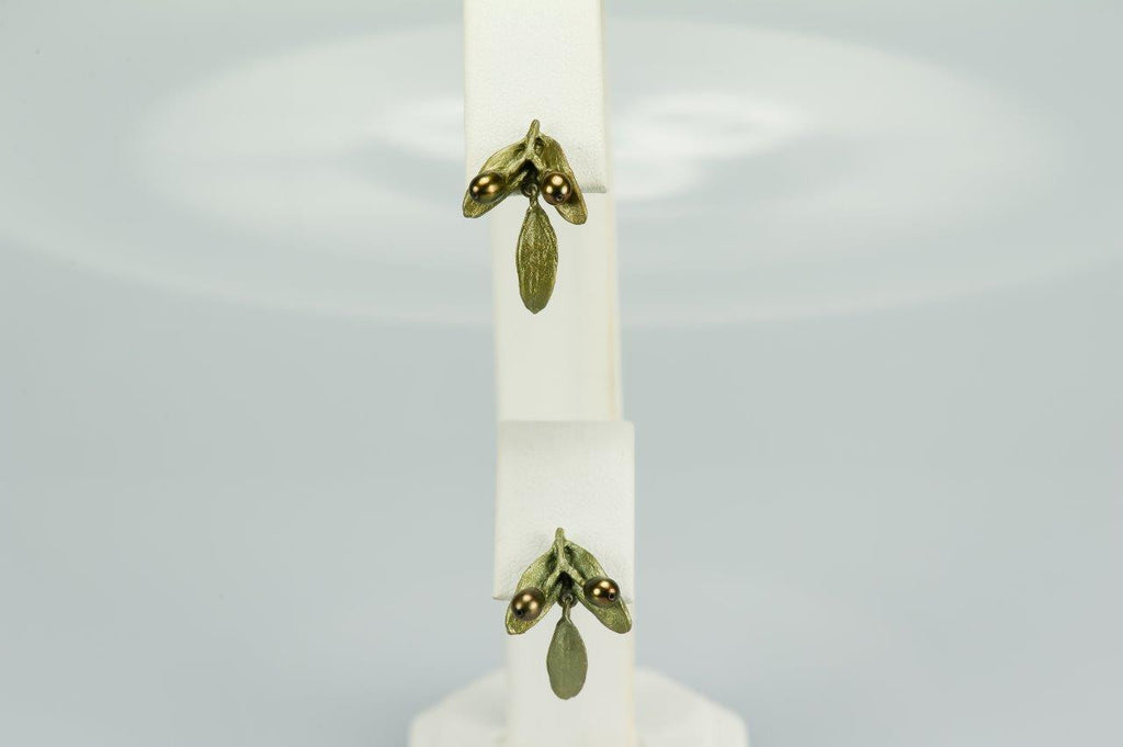 Silver Seasons Olives Post Earring