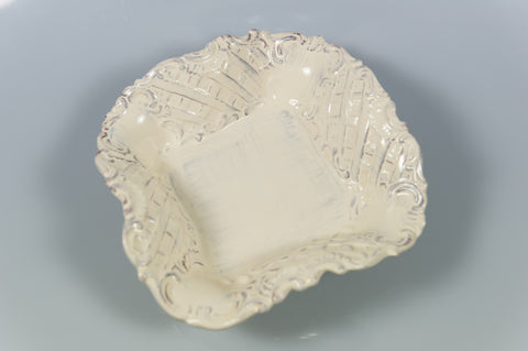 Baroque Cream Square Bowl