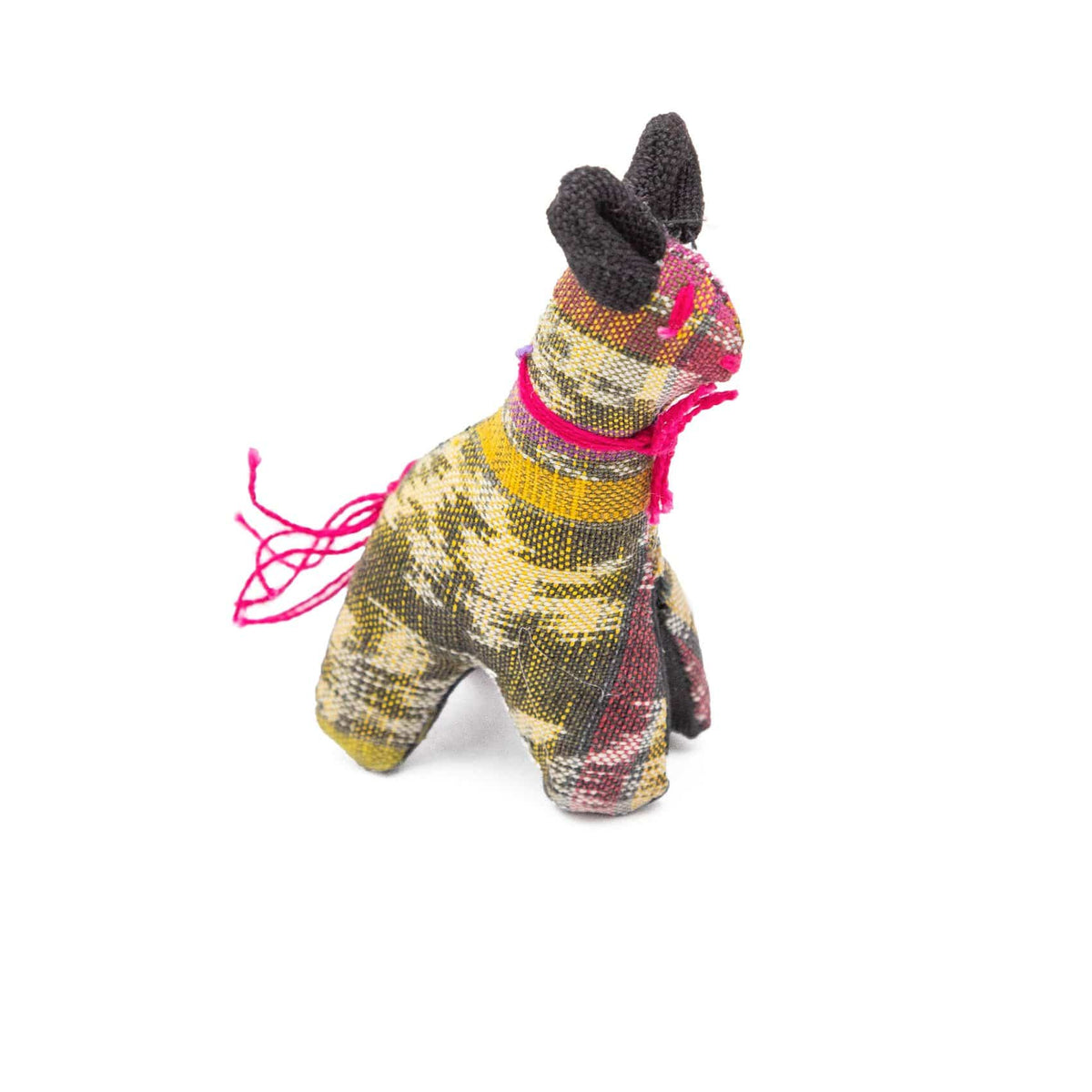 Fair Trade Handmade Cotton Animal Toys Yellow llama