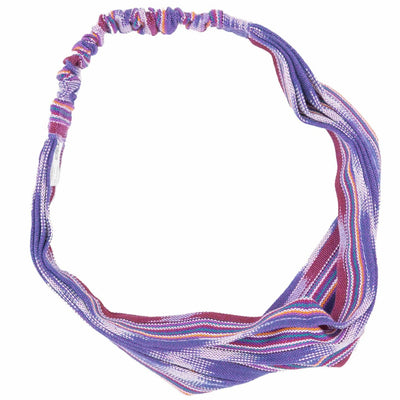 Handmade Boho Headband Pink Purple